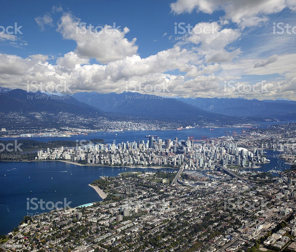 Vancouver - panoramic view royalty-free stock photo