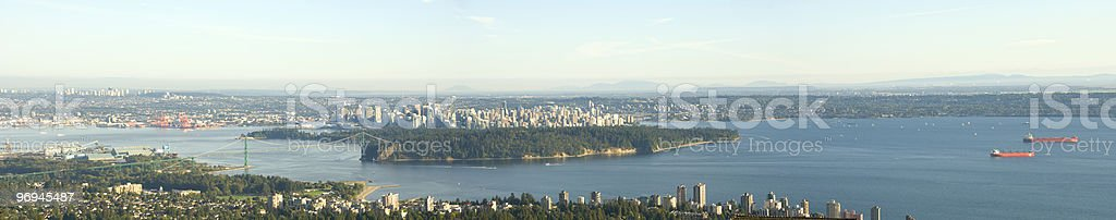 Vancouver Panoramic View royalty-free stock photo