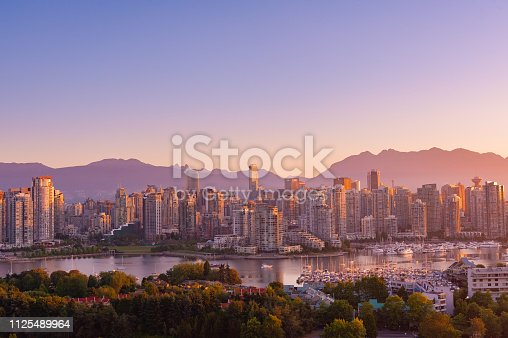 Landscape of Vancouver in Early morning