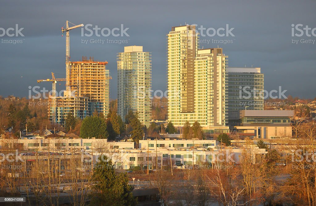 Vancouver Real Estate Construction stock photo
