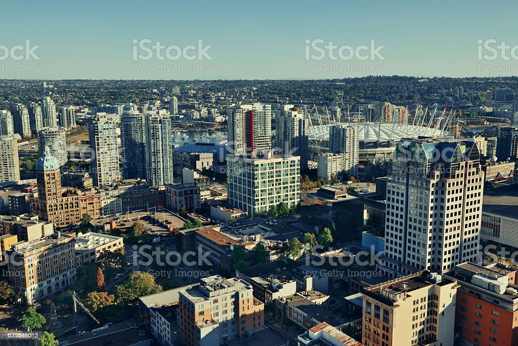 Vancouver rooftop view royalty-free stock photo