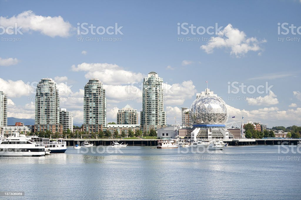 Vancouver - Science World from the water of False Creek stock photo