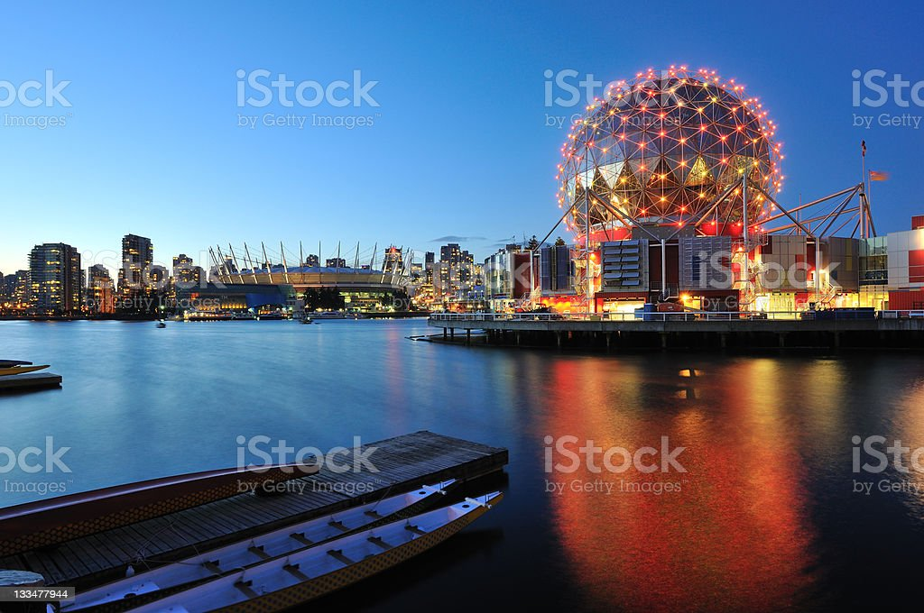 Vancouver Science World on Halloween stock photo