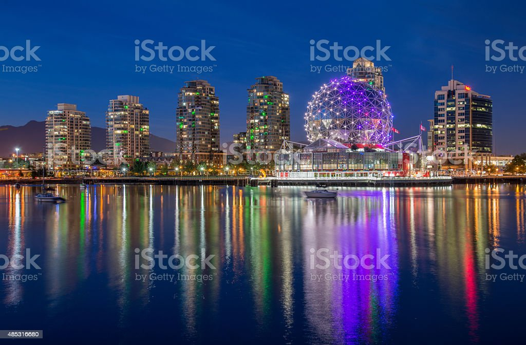 Vancouver Science World (Telus world of Science) stock photo