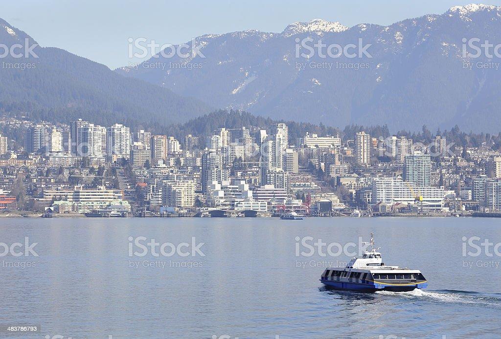 Vancouver Seabus, Burrard Inlet stock photo