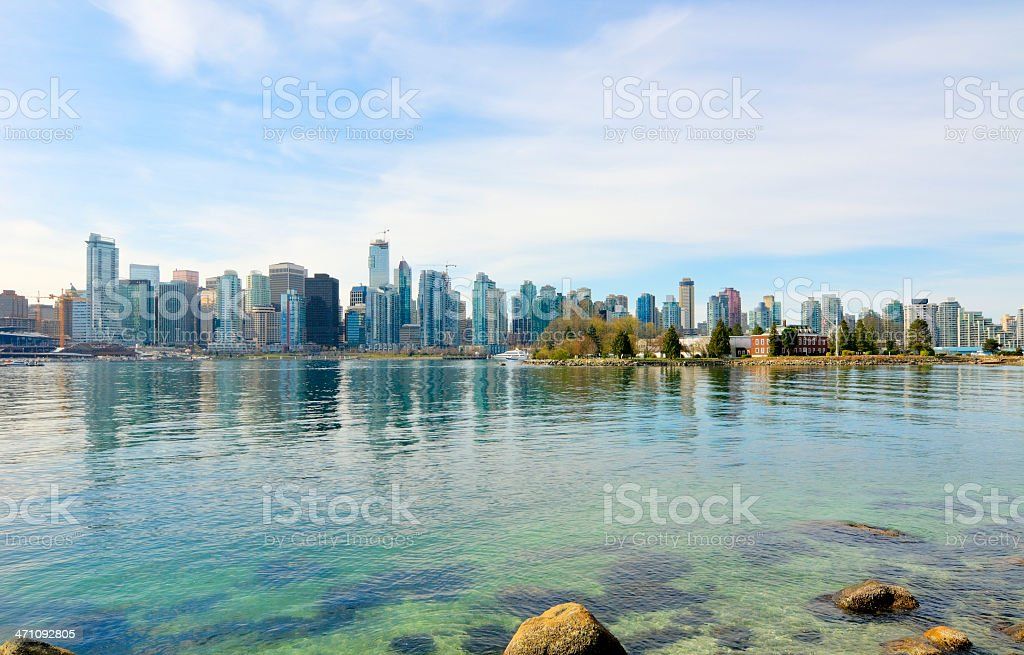 Vancouver Skyline and Harbor stock photo
