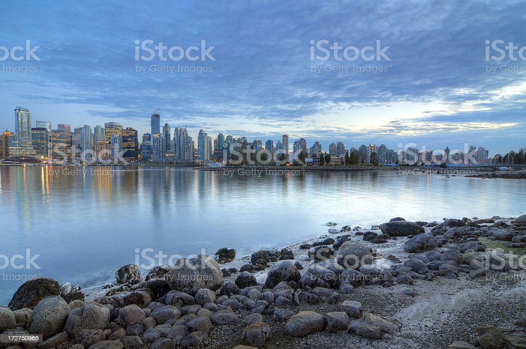 Vancouver Skyline At Dusk royalty-free stock photo