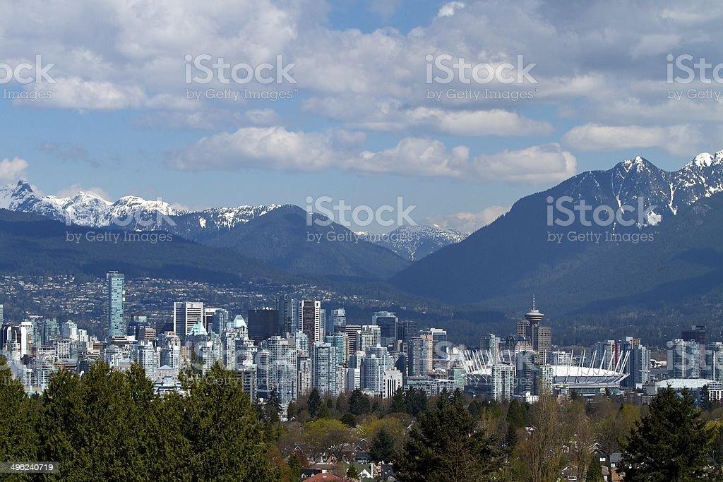 Vancouver Skyline Cityscape Canada stock photo
