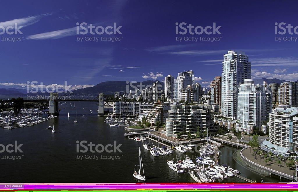 vancouver skyline false creek royalty-free stock photo