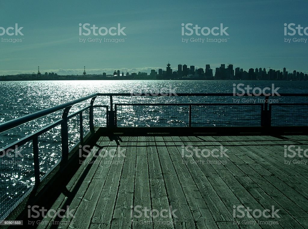 Vancouver Skyline From Lonsdale Quay royalty-free stock photo