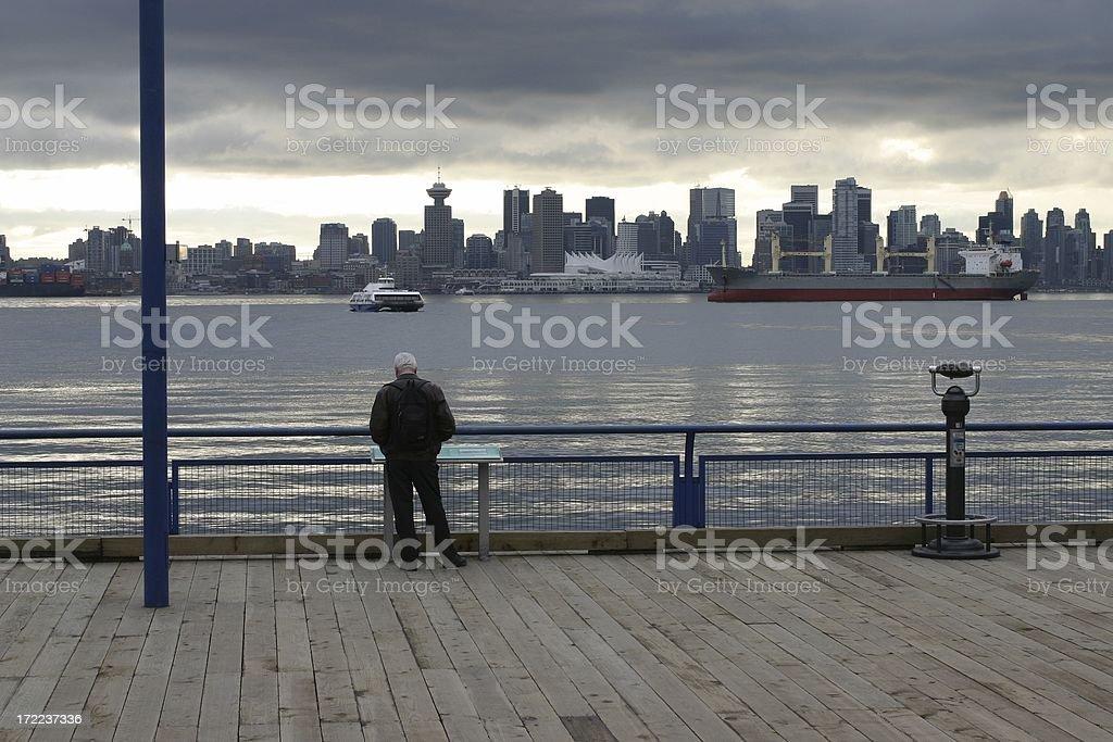 Vancouver Skyline In February stock photo