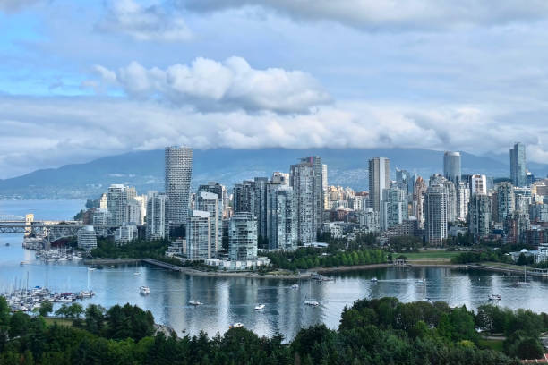 Vancouver skyline on a summer day. stock photo