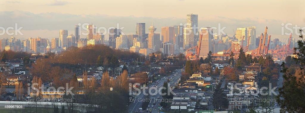 Vancouver Skyline Panorama Morning royalty-free stock photo