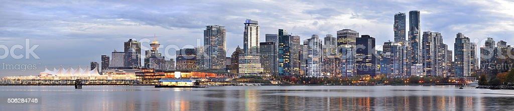 Vancouver skyline Panorama stock photo