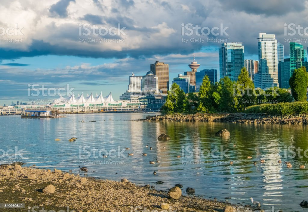 Vancouver Skyline, view from Stanley Park