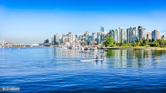 istock Vancouver skyline with harbor, British Columbia, Canada 912146044