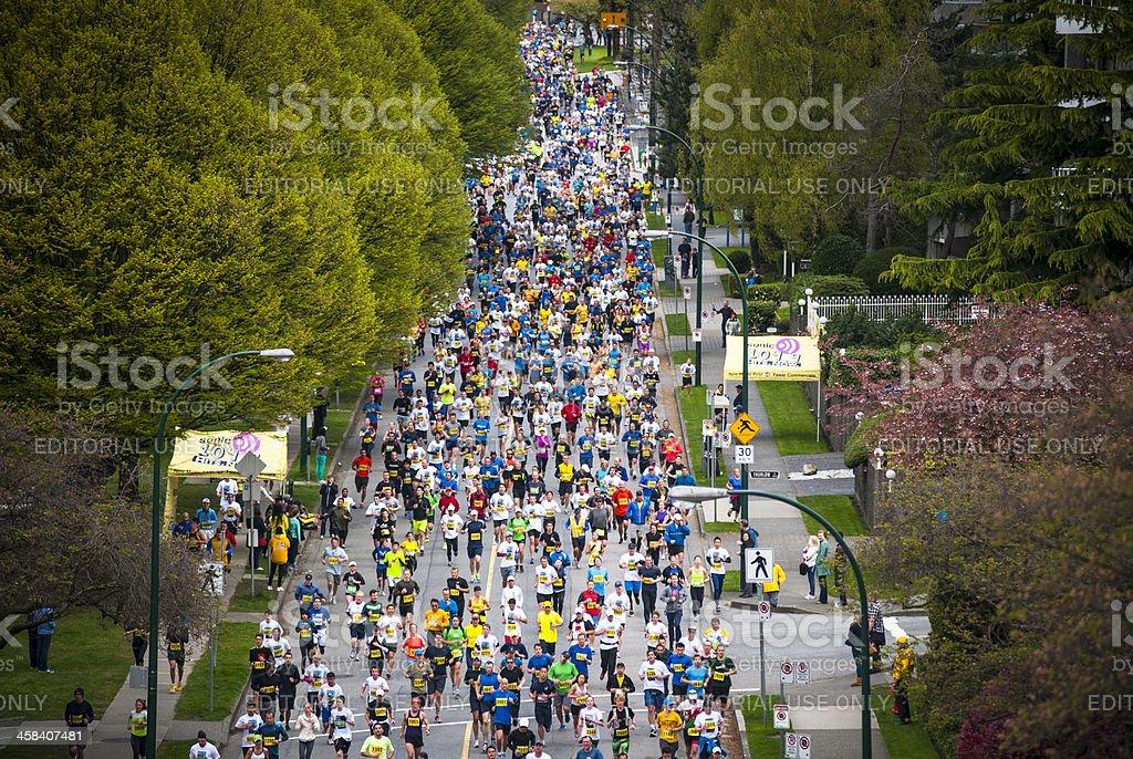 2013 Vancouver Sun Run stock photo