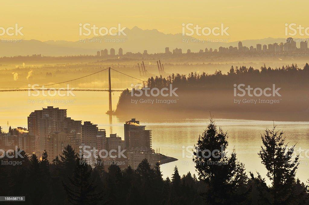 Vancouver Sunrise stock photo