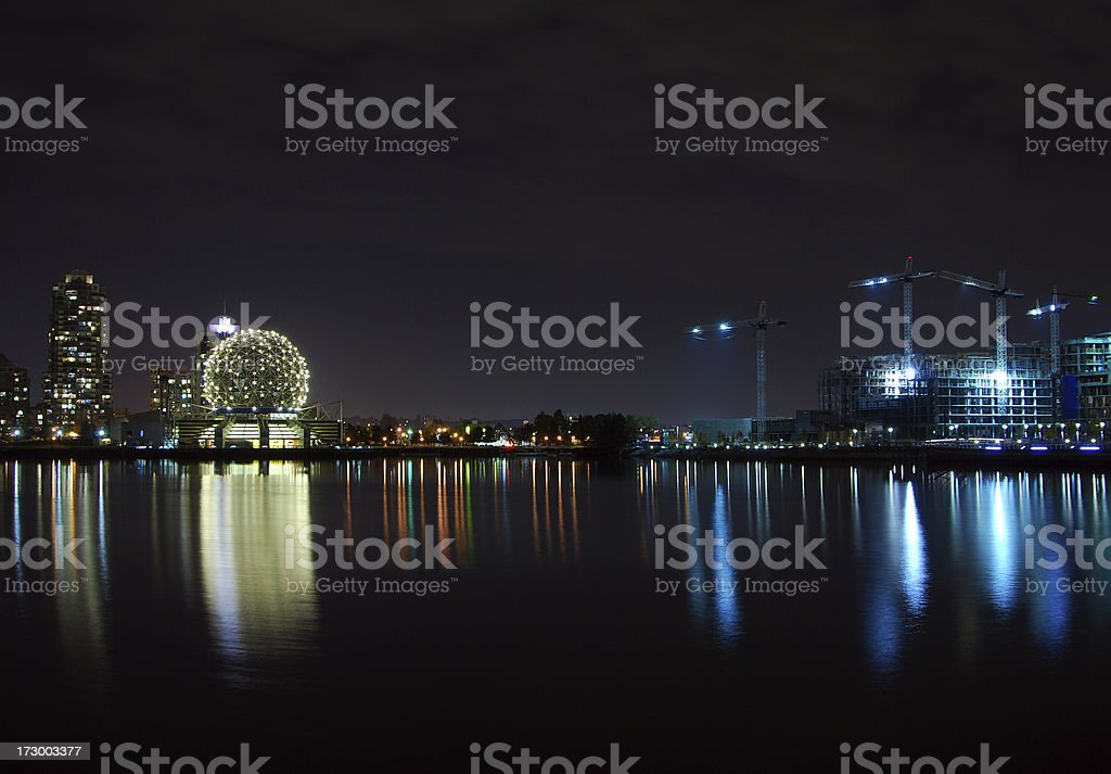 Vancouver under construction stock photo