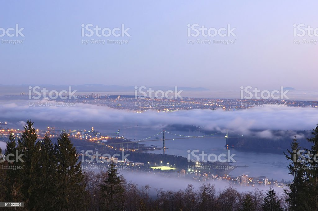 Vancouver viewed from cypress mountain royalty-free stock photo