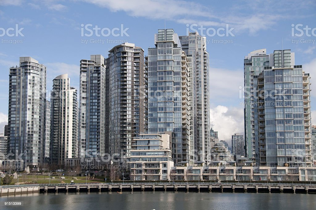 Vancouver Water front Towers royalty-free stock photo