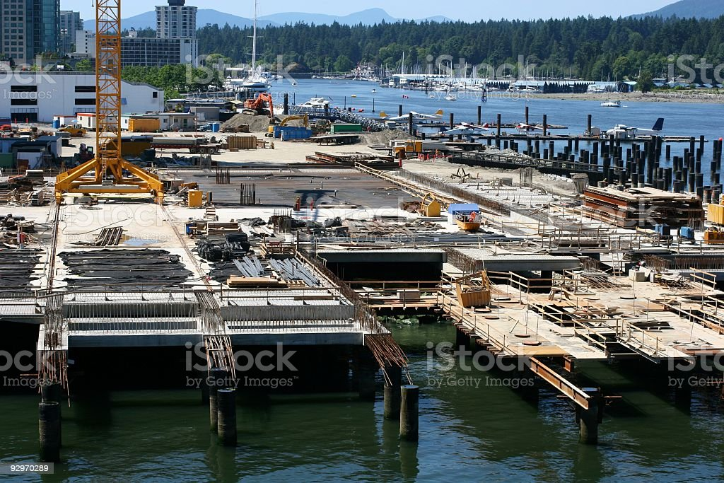 Vancouver Waterfront Construction Scene royalty-free stock photo
