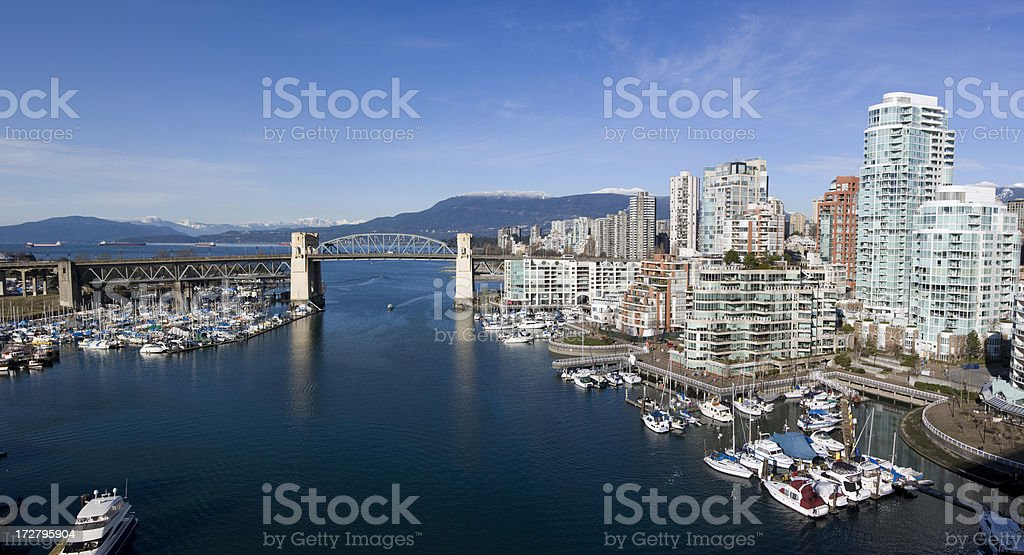 Vancouver Waterfront Panorama royalty-free stock photo