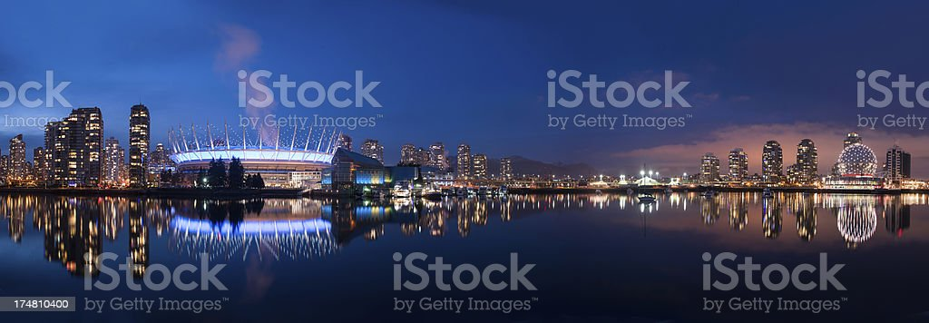 Vancouver Waterfront Panoramic stock photo