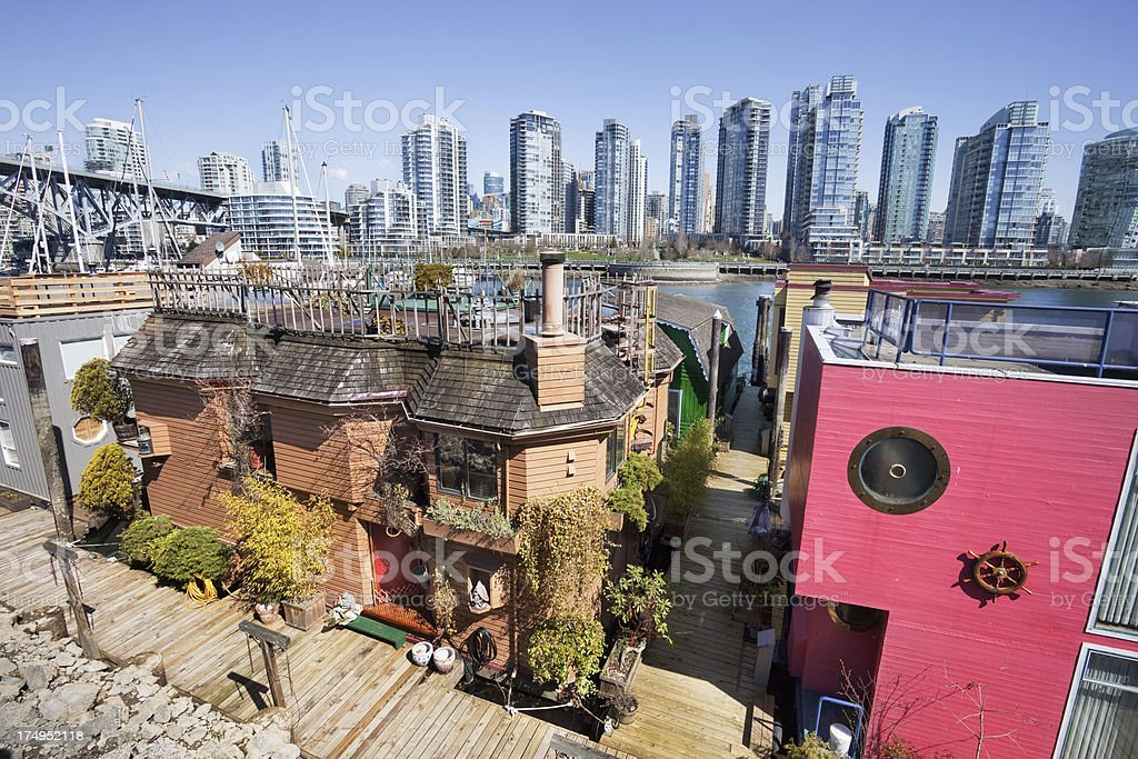 Vancouver Waterfront Property royalty-free stock photo
