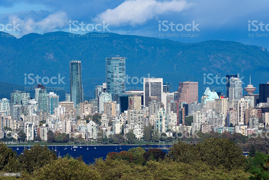Vancouver with new tower, September 2015 stock photo