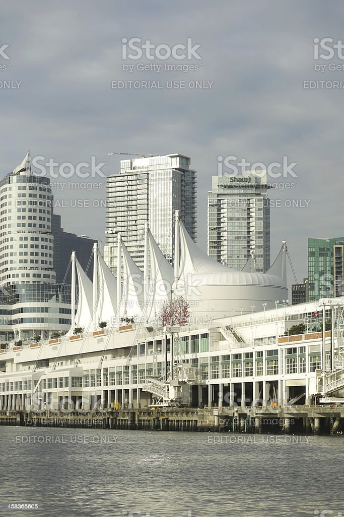 Vancouver's Downtown and Canada Place by Burrard Inlet royalty-free stock photo