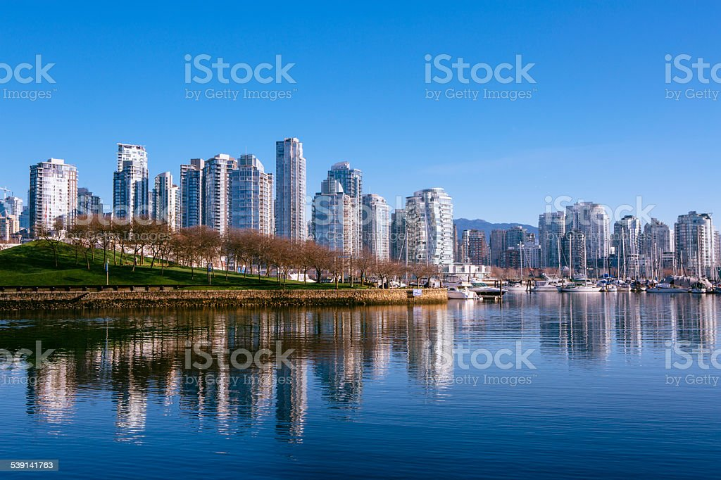 Vancouver's Glass Towers stock photo