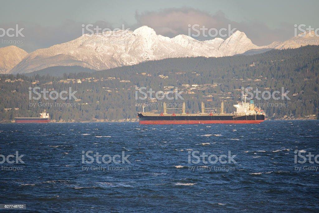 Vancouver's North Shore Mountain Range stock photo