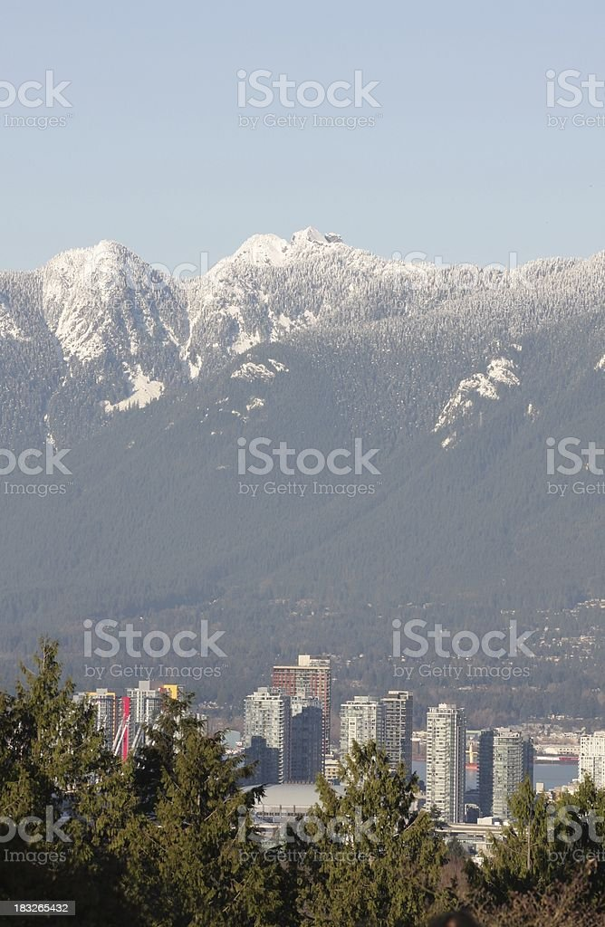 Vancouver's North Shore Mountains stock photo