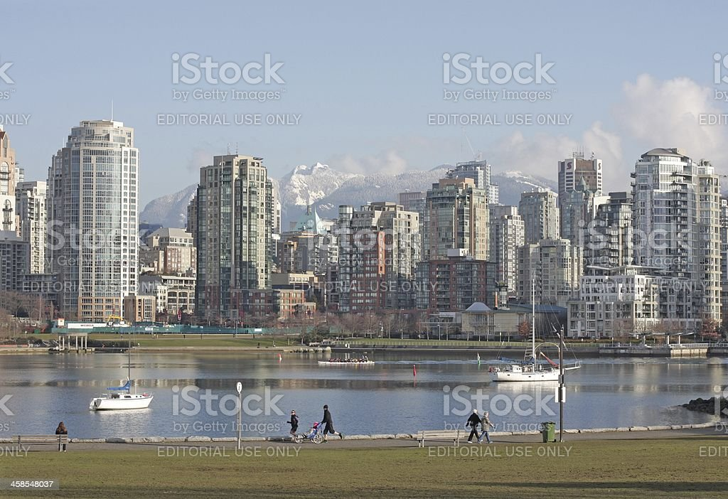 Vancouver, British Columbia, Canada - March 6th, 2011: False Creek...