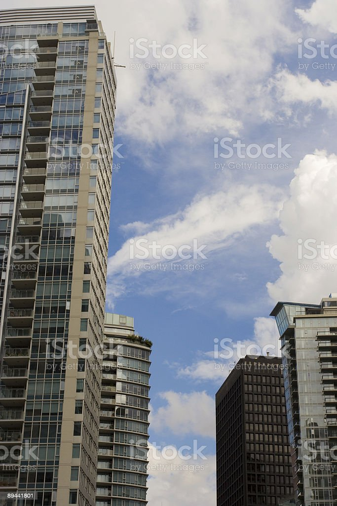Vancouver's skyscrapers royalty-free stock photo