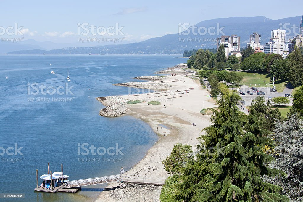 Vancouver's Sunset Beach royalty-free stock photo