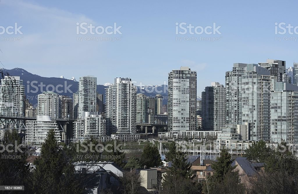 Vancouver's Yaletown and Fairview Neighbourhoods royalty-free stock photo