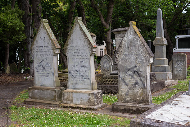 Beschädigt Grab Steinen – Foto