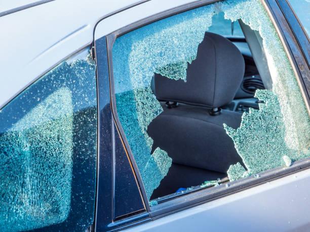 Vandalismus-Autofenster – Foto
