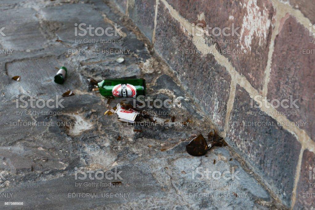 Vandalism in Heidelberg, Germany stock photo