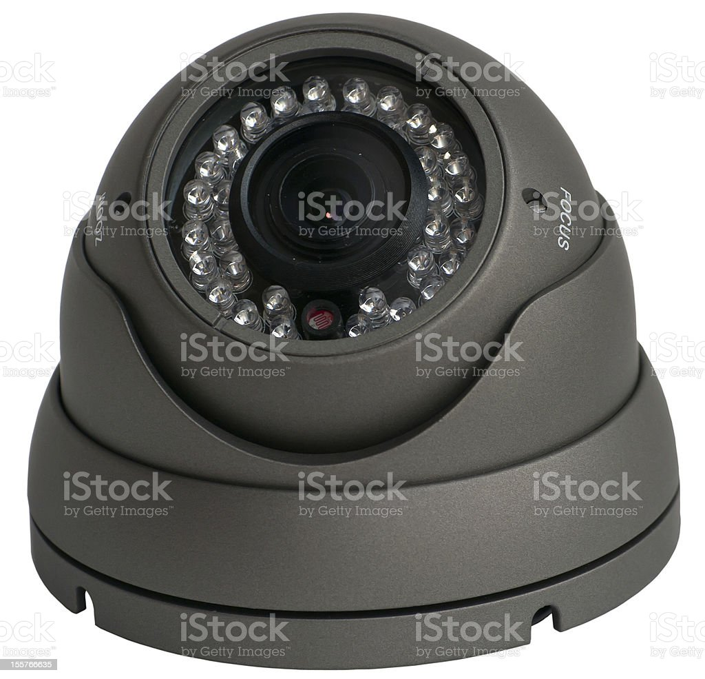 Vandalproof IR Dome Colour Camera royalty-free stock photo