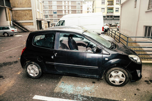 Vandals in Strasbourg, France, marked the start of 2020 by destroying windows of multiple car windows