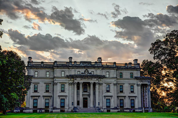 Vanderbilt Mansion National Historic Site - Hyde Park, NY stock photo