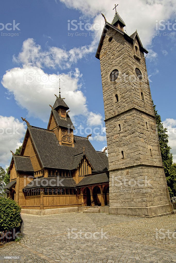Vang stave church in Poland. royalty-free stock photo