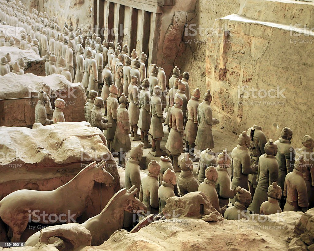 Vanguard of the Terra Cotta Army, Xian. China stock photo