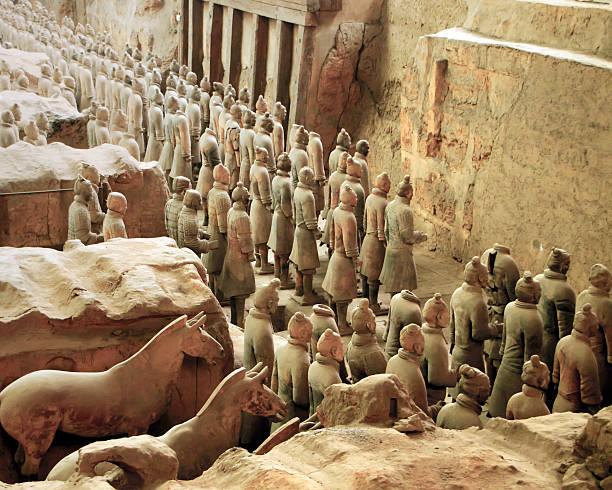 Vanguard der Terrakotta-Armee, Xian. China – Foto