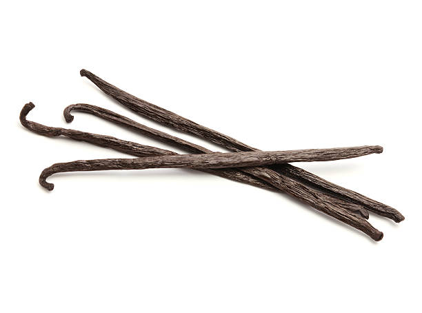 Vanilla Beans Vanilla Beans isolated on white (excluding the shadow) vanilla orchid stock pictures, royalty-free photos & images