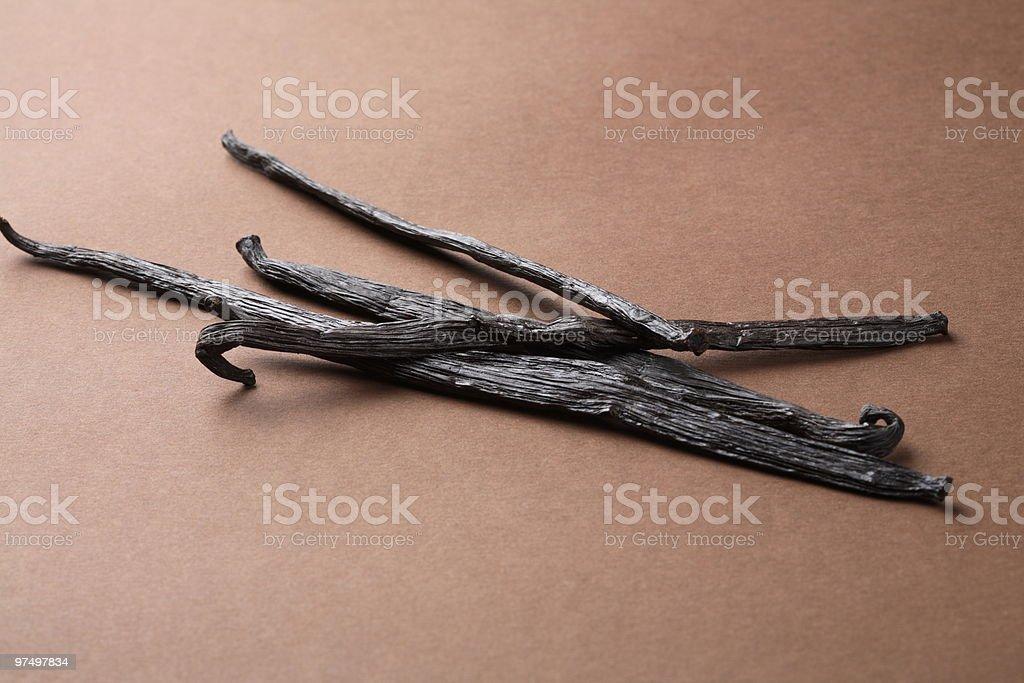 Vanilla beans royalty-free stock photo