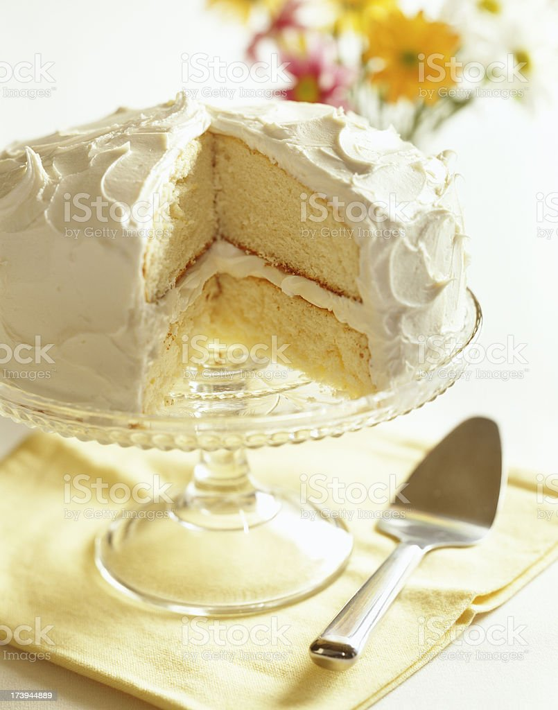 Vanilla Cake stock photo